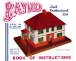 Front cover of the Sets 1 to 6 BAYKO Manual, dating from 1935 to 1937 - click here for the full manual