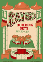 Front cover of the 1938 to 1942 BAYKO manual for sets 20 to 23 - click here for the full manual