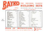 BAYKO Set #3 manual, 1948, Front Cover - click here for the full manual.